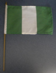 Nigeria Country Hand Flag - Medium (stitched).